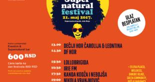 Drugi dan Supernatural festivala prethodno odložen zbog loših vremenskih uslova održaće se u nedelju 21. maja u Supernatural parku na Adi Huji.