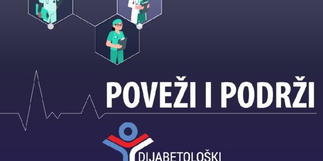 """Dijabetološki, Online Savetovalište za sve osobe sa dijabetesom """"Poveži i podrži"""" S A O P Š T E NJ E, Gradski Magazin"""