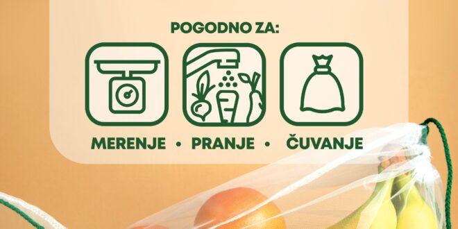 Višekratne ekološke vrećice za voće i povrće, Gradski Magazin