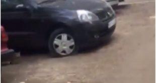 izbušene gume, BAHATOST NA VOŽDOVCU! Vlasnici automobila u šoku – Izbušene gume na svim vozilima na parkingu (VIDEO), Gradski Magazin